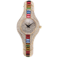 Wholesale Online Tags - Hot Sale High Quality Watch Fashion Generous Bling Color Rhinestone Stainless Steel Replicas Watches online Muslim
