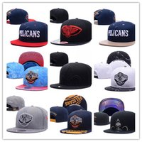 2017 Mais nova moda ajustável Bordado New Orleans Snapback Chapéus Outdoor Summer Men Basquete Caps Sun Visors Cheap Women Basketball Cap