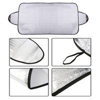 Wholesale Heat Shield Cover - Wholesale-Windscreen Cover Anti Ice Snow Frost Shield Dust Protection Heat Sun Shade Front Car Windshield EMS Free Shipping