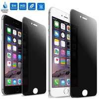 Wholesale Tempered Glass Free Shipping - Anti-Spy Peeping Privacy Tempered Glass Screen Protector For iPhone 6 6s 6 Plus free shipping