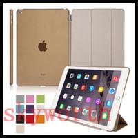 Wholesale Ipad Mini Smart Magnetic Crystal - Magnetic Front Smart Cover & Crystal Back Case For iPad Air 2 3 4 5 6 iPad Mini 4 Case Auto Sleep Wake