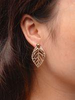 Wholesale Earrings Women Leaves - statement leaves Earring for Women leaf Korean Hollow Out Flower Minimalist simple Earring Pending Brinco pendientes xr160641-8