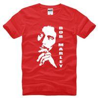 Wholesale Bob Marley T Shirts - New Reggae Bob Marley T Shirts Men Cotton Short Sleeve Printed Men T-shirts Fashion Male Music Top Tees Big Size Summer Tee Shirt 2016 S-3XL