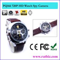 Wholesale Leather Dvr Camera Watch - 16GB memory Built-in 1280*720P DIGITAL SPY CAMERA DVR SMART WATCH 5MP Men's Waterproof HD Sport Watch Hidden Camera 720P Leather Band Watch