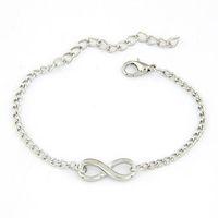Wholesale Modern Charm Bracelets - Wholesale-Modern New Women Men Handmade Gift Charm 8 Shape Jewelry Infinity Bracelet WSep23