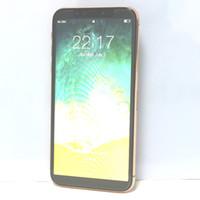 Wholesale Gsm Quad Single Sim - New Goophone iX 5.5 inch Android 6.0 Quad Core MTK6580 1GB RAM 16GB ROM 1280*640 HD 8MP Camera 3G WCDMA GSM Smartphone