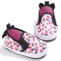 Wholesale Newborn Butterfly - Wholesale- Sweet Baby Girls Cute Cartoon Animals Newborn Soft Soled Loafer Shoes Butterfly Princess Popular First Walkers Footwear Shoes