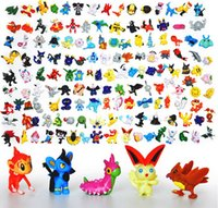 Wholesale Plastic Figurines Animals - Japanese figures set 144pcs poke mon pikachu charizard figurine figuras doll lot for kids party supply decor