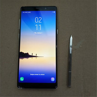 Wholesale German Pens - Goophone Note 8 MTK6580A Octa Core 1GB RAM 8GB ROM 6.3 inch Android 6.0 Smart Cell phones With Pen