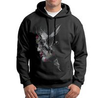 Wholesale Color Collage - Designer Hombre 100% Cotton Hooded Sweaters O Neck Face Collages Black Grey White Mens make your own sweatshirt S-XXL Funny Hooded Sweaters