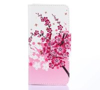 Wholesale Cases Phone Factory - Factory Price colored drawing Flower Wallet Leather for iphone 6 6p Phone Case Cover Card Slots Phone Case Cover