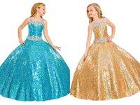 Wholesale Children Dresses Size 14 - 2016 Custom Made Size Luxurious High Quality Girls Pageant Dresses Flower Kids Skirts By Rachel Allan Rhinestones Belt Children Dress Prom