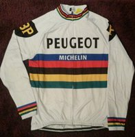 Wholesale Uci Winter Jersey - 2018 Peugeot UCI Winter Thermal Fleece Cycling clothing MTB Bike Cycling Jersey Long Ropa Ciclismo Invierno Hombre Maillot