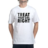 Wholesale Oral Girl - Free Shipping Men T Shirt Top Tee TrEAT Your Girls Right Oral Sex T shirt Printed Pure Cotton Men'S