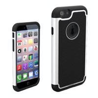 Wholesale Iphone4 Silicone Cover - Iphone4 CASE Manufacturer OEM Rugged Durable Impact Shockproof Resistant Double Layer Cover Hard Shell & Silicone Armor Case for iphone 4s