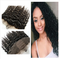 Seide Base Lace Frontal Closure 13x4 Free Middle 3 Way Teil Virgin brasilianischen Menschenhaar Deep Curly 4x4 Silk Base Full Lace Frontals