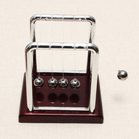 Wholesale Balance Balls Toy - Wholesale-Newest !! Top Selling Early Fun Development Educational Desk Toy Gift Newtons Cradle Steel Balance Ball Physics Science Pendulum