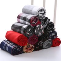 Wholesale Cashmere Scarfs Cheap - Cheap Women Men Plaid Warm Scarves Grid Tassel Wrap Oversized Check Shawl Tartan Cashmere Scarf Winter Fashion Neckerchief Lattice Blankets