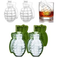 Wholesale grenade gift resale online - 3D Grenade Shape Ice Cube Mold Creative Silicone Ice Molds Kitchen Bar Tool gift Ice Cream Maker Trays Mold In Stock WX C74