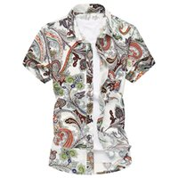 Wholesale M XL XL mens shirts fashion floral shirts men with flower famous brand men fashion hawaiian shirts G0104