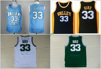 Wholesale High School Babies - 2017 New MENS Indiana State Sycamores Larry Bird College Jerseys Baby Blue Stitched 33 Larry Bird New Valley High School Jersey