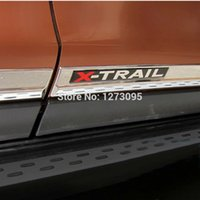 Wholesale Door Side Molding Trims Chrome - ABS Chrome Door Body Side Molding Trim Cover for Nissan X-Trail X Trial XTrail Rogue T32 2014 2015 Car Styling Accessories 4pcs