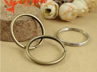 Wholesale bronze keychain clasps for sale - Group buy A2221 MM MM A2219 jewelry antique bronze plated split key ring for keychain silver jewelry findings components accessories