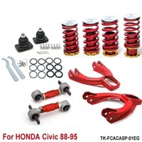 Wholesale Spring For Honda - Tansky -- Rear Lower Control Arms+ Front Camber Kits+Lowering Coil Springs Red (Fits For Acura Integra 91-01 TK-FCACASP-01EG
