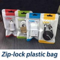 Wholesale Earphones Plastic Bag - 10.5*15cm Universal retail package bags Zip lock bag pouch opp poly plastic packaging bag for Cell phone Charger USB Cable earphone