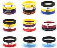 Wholesale Bracelet Basketball - Kobe Bryant James Owen curry jeremy lin basketball sports bracelet silicone bracelet 1 set 4 pieces