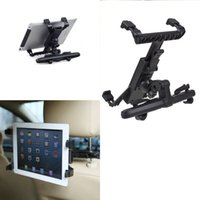 Wholesale Seat Back Mount Bracket - 7 inch to 11 inch Universal Car Back Seat Headrest Mount Holder Clip Bracket For iPad 3 4 5 Tablet SAMSUNG tab Tablet PC Stands