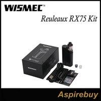 Wholesale New Genius - Wismec Reuleaux RX75 Kit 75W Box Mod with 2ML Amor Mini Tank VW Bypass TC-Ni TC-Ti TC-SS TCR Mode 1 18650 New VWT420 Green Cyan 100% Genius