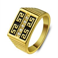 Wholesale Gold Plated Great Wall - Middle East hand adorn a vintage Great Wall tattooed men's ring gold bracelet ring fashion gold vintage Great Wall men's ring wedding jewell