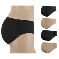 Wholesale Seamless Bum - Wholesale-Sexy Women Seamless Padded Panties Smooth Surface Bottom Panties Buttocks Push Up Lingerie Underwear Bum Butt Lift Briefs