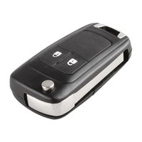 Wholesale button opel - Wholesale High Quality Black 2 Buttons Smart Remote Replacement Key Case No Chip with Uncut Blade Fob for Opel CIA_40Z