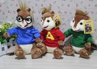Wholesale Pink Chipmunk - Shipping movie Alvin and the Chipmunks 3   chipmunk Alvin Male and female squirrel plush doll birthday gift