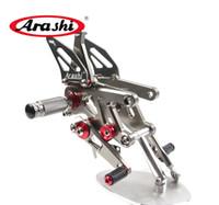 Wholesale Abs Cnc - Arashi For APRILIA RSV4 FACTORY APRC ABS 2013-2016   RSV4 FACTORY APRC ABS SBK S 2013 CNC Rear Sets Rearset Foot Peg Footpeg Footrest