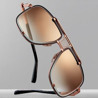 Wholesale Women Butterfly Top - Selling fashion designer sunglasses metal square 18K gold frame punk style top quality popular style uv protection eyewear with original box