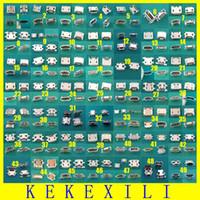 telefonbuchsen großhandel-Großhandels-49 Modelle 98pcs Mikro-USB-Jack-Verbindungsstück Tablette-Telefon-aufladenhafen Sockel-Energien-Verbindungsstück 5pin Wannenart Rindhorn 5p Endstück 7pin