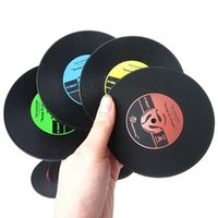 La venta al por mayor CALIENTE retro CD-Diseño Antislip Silicona Drink Coasters Pad Coffee Mat Placemat 91WL
