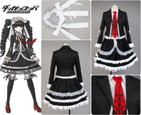 Wholesale Celestia Ludenberg Cosplay - Wholesale-Dangan-Ronpa Danganronpa Celestia Ludenberg Uniform Girls Top Shirt Lace Skirt Anime Halloween Cosplay Costumes For Women
