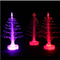 Wholesale christmas tree color changing led lights resale online - Eco Friendly Christmas lights Party Decorations Tree Color Changing LED Fiber Light Lamp Home Party Decoration Christmas Decorations