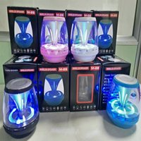 Wholesale Digital Audio Portable Speakers - Wireless Bluetooth Speakers Powered Subwoofer LED Light Support TF Card FM MIC Mini Digital Speaker car hands-free calls M28 MIS161