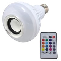 Wholesale Play Squares - RGB Bluetooth speaker LED Bulb power with Music Playing Light with 2 remote controller new type bulb
