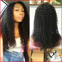 Loose Deep Wave Pleine dentelle Cheveux humains Perruques Virgin Peruvian Human Hair Lace Front Wig Bleached Knots With Baby Hair Color # 1b