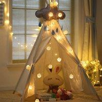 topları çelenk açtı toptan satış-Noel Işık 5 m 20 Rattan Topu Led dize işık gece sıcak fener Düğün Garland dekor perde Dekorasyon ışıkları peri