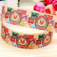 "Wholesale Hairbows Supplies - 7 8"" 22mm Bread Printed Grosgrain Ribbon Sewing Supplies DIY Hairbows Accessories Headwear Gift Wrap Material 50 100Y A2-22-2453"