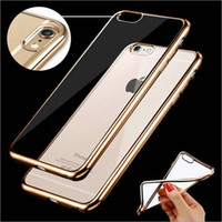 Wholesale iphone cases clear opp for sale – best For iPhone Case Transparent Ultra Thin Electroplate TPU Soft Case Cover With OPP Bag For iPhone5 s se plus iPhone7 Plus