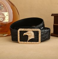 Wholesale Retro Leather Belt - Hot New Fashion Belt Mens ceinture Retro High Quality Genuine Leather Designer Cowskin Belts Luxury Belts for gift