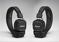 dayak kulaklıkları toptan satış-DHL Ücretsiz Nakliye Marshall Major II 2.0 Bluetooth Kablosuz Kulaklıklar DJ Stüdyo Yendi Kulaklık Derin Süper Bas Gürültü Izole Kulaklık